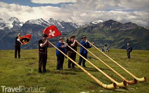 hráči na alpský roh