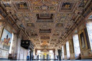 velký sál zámku Kronborg