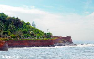 pevnost Fort Aguada od moře