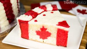 dort s kanadskou vlajkou