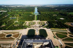 Versailles z výšky