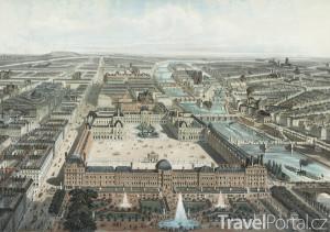 Louvre a Tuilerijský palác kdysi