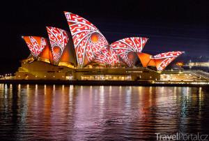 Opera House během Vivid Sydney