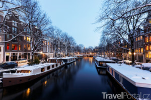 Amsterdam v zimě