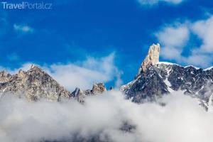 pohled na Mont Blanc
