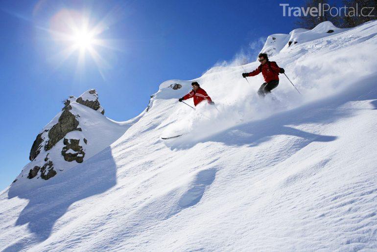 lyžování ve středisku Courmayeur