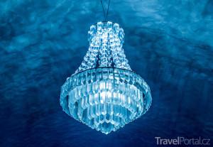 ledový lustr