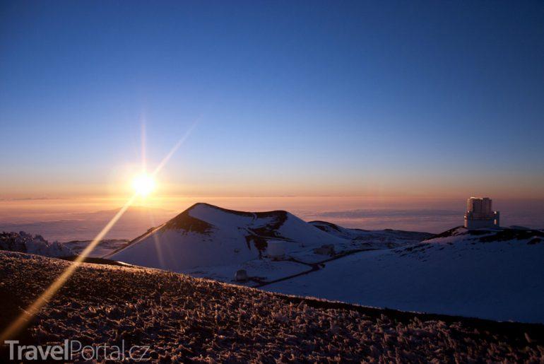 svítání nad Mauna Kea