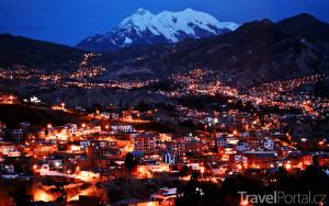 La Paz v noci