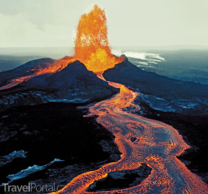 Mauna Loa během erupce