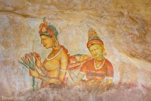 fresky v skalním chrámu Sigiriya