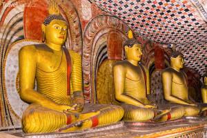 jeskyně ve městě Dambulla