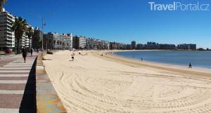 pláž ve městě Montevideo
