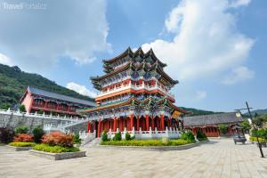 buddhistický chrám na hoře Tianmen
