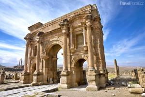 ruiny římského města Timgad