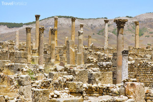 ruiny římského města Djémila