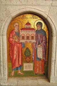 vzácná mozaika v klášteře na ostrově Patmos