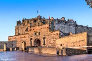 hrad ve městě Edinburgh