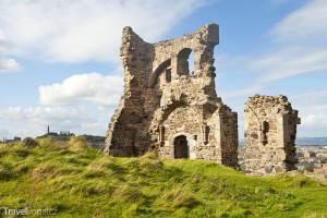 ruiny kaple v parku Holyrood