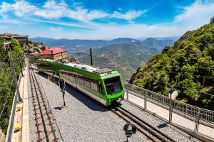 rychlodráha na hoře Montserrat