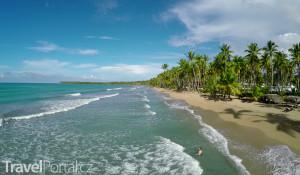 pláž na poloostrově Samaná