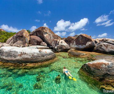 The Baths na ostrově Virgin Gorda