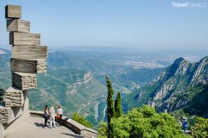 vyhlídka na hoře Montserrat