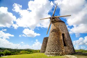 větrný mlýn na ostrově Antigua