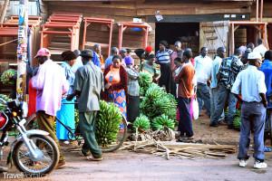 africký trh s matoke