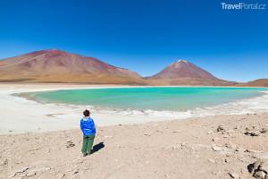 Laguna Verde v národním parku Eduardo Avaroa