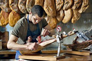 cortador krájí jamón ibérico