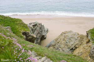pláž v Porthlevenu