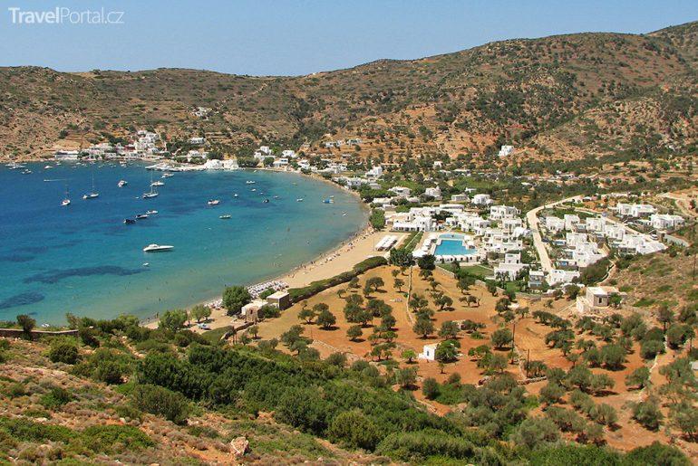 pláž Vathi na ostrově Sifnos