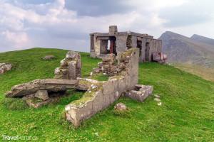 opuštěný horský dům na ostrově Achill Island