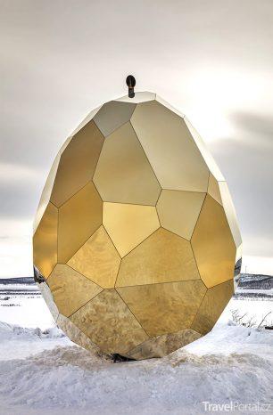 Solar Egg: V polární krajině vás zahřeje zlaté vejce