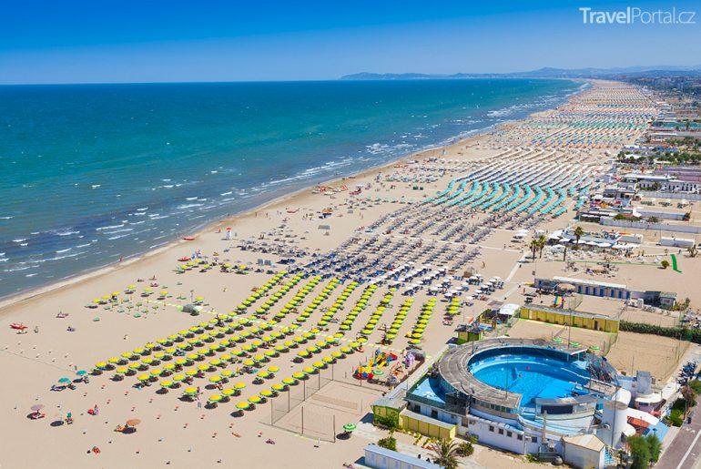 pláže v Rimini