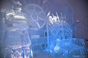 seriál Hra o trůny v podobě ledového hotelu