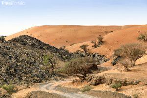 písečná duna poblíž Wadi Maidaq