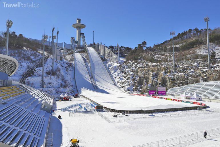 skokanské centrum Alpensia aneb Pchjongčchang 2018