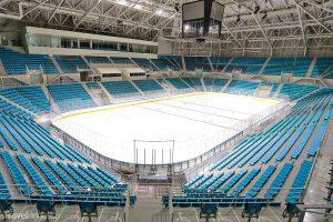 hokejová aréna Kangnung aneb Pchjongčchang 2018