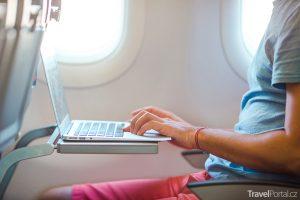 internet v letadle