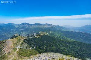 hora Dirfi na ostrově Evia