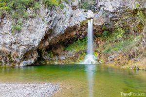 vodopády Drimona na ostrově Evia