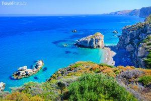 pláž na ostrově Kythéra