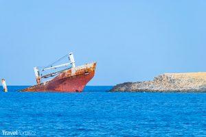 vrak lodi v Diakofti