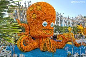citrusový festival v Mentonu