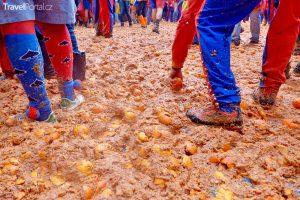 pomerančová bitva ve městě Ivrea