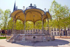pavilon ve městě Dijon