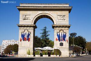 Vítězný oblouk ve městě Dijon