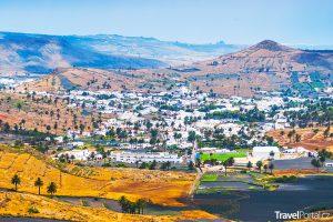 město Haría na Lanzarote